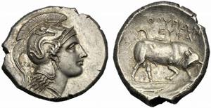 Lucania, Distatere, Thurii, c. 350-300 a.C.; ...