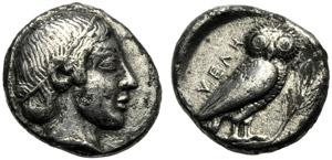 Lucania, Dracma, Velia, c. 465-440 a.C.; AR ...