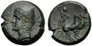 Sannio, Bronzo, Isernia, c. 263-240 a.C.; AE ...