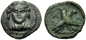 Lucania, Bronzo, Laos, c. 350-300 a.C.; AE ...