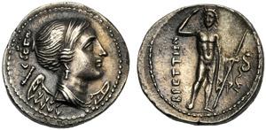 Bruttium, I Brettii, Dracma, c. 216-214 ...
