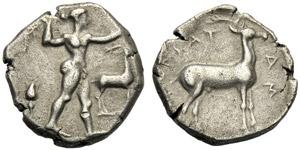 Bruttium, Statere, Caulonia, c. 475-470 ...