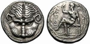 Bruttium, Tetradramma, Reggio, c 435-425 ...