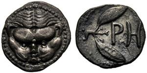 Bruttium, Litra, Reggio, c. 425-420 a.C.; AR ...