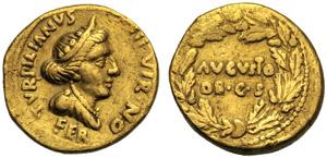 Augusto (27 a.C. - 14 d.C.), Aureo, Roma, 19 ...