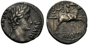 Augusto (27 a.C. - 14 d.C.), Denario, ...