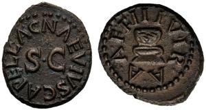 Augusto (27 a.C. - 14 d.C.), Quadrante, ...