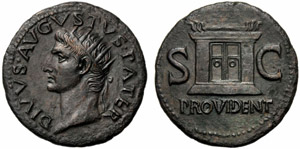 Divo Augusto (Tiberio, 14-37), Asse, Roma, ...