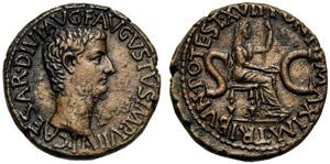 Tiberio (14-37), Asse, Roma, 15-16 d.C.; AE ...