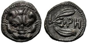 Bruttium, Litra, Reggio, 415-387 a.C.; AR (g ...