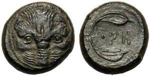 Bruttium, Pentoncia, Reggio, c. 400 a.C.; AE ...
