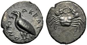 Sicilia, Didramma, Agrigento, c. 510-500 ...