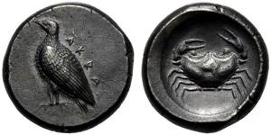 Sicilia, Didramma, Agrigento, c. 500-495 ...