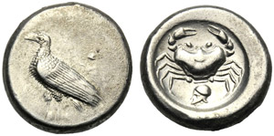 Sicilia, Didramma, Agrigento, c. 495-478 ...
