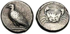 Sicilia, Tetradramma, Agrigento, c. 464-450 ...