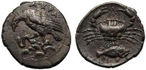 Sicilia, Litra, Agrigento, c. 425-406 a.C.; ...