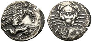 Sicilia, Emidracma, Agrigento, c. 420-406 ...