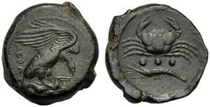 Sicilia, Tetras, Agrigento, c. 420-406 a.C.; ...