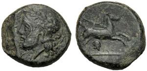 Sicilia, Bronzo, Entella, c. 343-339 a.C.; ...