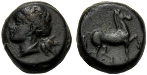 Sicilia, Oncia (?), Erice, c. 330-260 BC; AE ...