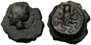Sicilia, Oncia (?), Erice, c. 330-260 a.C.; ...