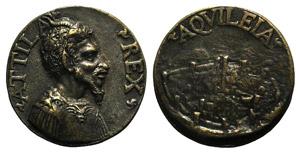 Attila the Hun (AD 406-453). Æ Medal ...