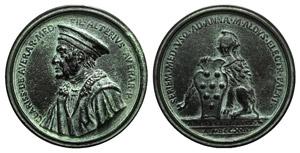 Chiarissimo Medici (c. 1331-1388). Æ Medal ...
