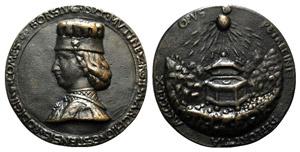 Borso dEste di Ferrara (1413-1471). Æ ...