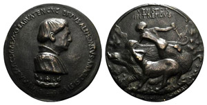 Afonso V dAragona (1416-1458). Æ Medal ...