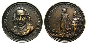 Pietro Andrea Andreini (1650-1729). Æ Medal ...
