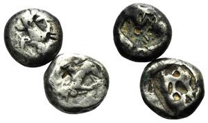 Persia, Achaemenid Empire, Lot of 2 AR ...