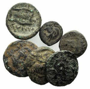 Lot of 6 Æ Greek coins, to be catalog. Lot ...