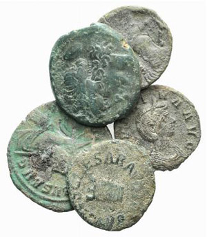Lot of 5 Æ coins, including 2 Greek, 3 ...