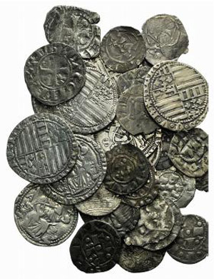 Lot of 36 AR Italian Medieval and Modern ...