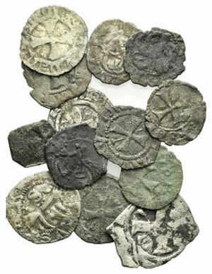 Lot of 13 BI Medieval coins, to be catalog. ...