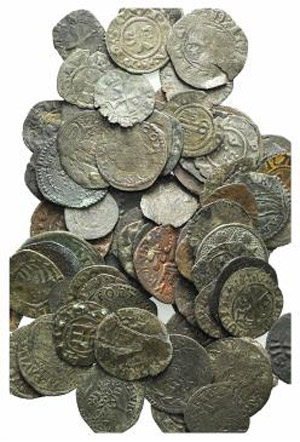 Lot of 84 BI Italian Medieval coins, to be ...