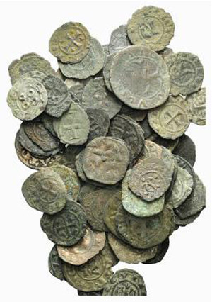 Lot of 87 BI Medieval coins, to be catalog. ...