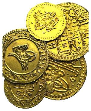 Lot of 5 Modern AV Islamic coins, to be ...