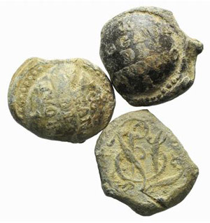 Lot of 3 Lead Seals, to be catalog. Lot sold ...
