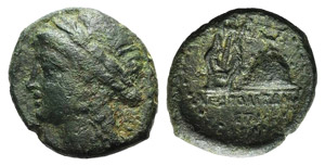 Campania, Neapolis, c. 250-225 BC. Æ (19mm, ...