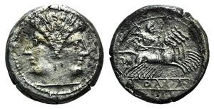 Anonymous, c. 225-212 BC. AR Quadrigatus ...