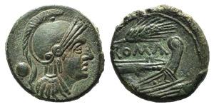 Corn-ear series, Sicily, c. 215-212 BC. Æ ...