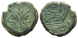 Anonymous, Rome, after 211 BC. Æ As (32mm, ...
