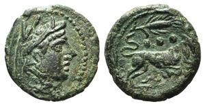 Corn-ear series, Sicily, after 211 BC. Æ ...