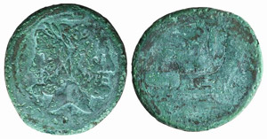 Anonymous, Canusium, 206-195 BC. Æ As ...