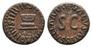 Augustus (27 BC-14 AD). Æ Quadrans (14mm, ...