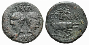 Augustus and Agrippa (27 BC-AD 14). Gaul, ...