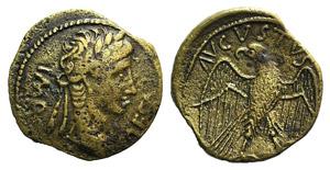 Augustus (27 BC-AD 14). Æ Quadrans (18mm, ...