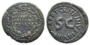 Augustus (27 BC-AD 14). Æ Dupondius (28mm, ...