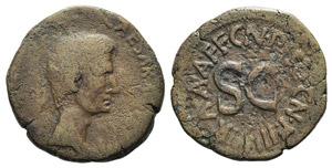 Augustus (27 BC-AD 14). Æ As (26mm, 11.19g, ...